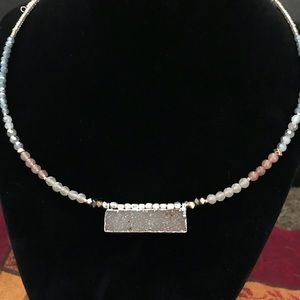 NWT Nakamol beaded wire-wrap choker necklace